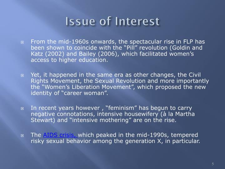 Issue of Interest