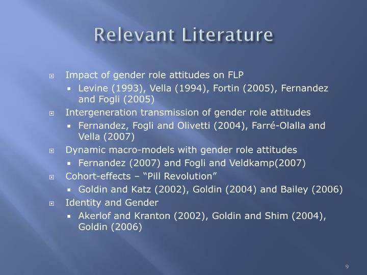 Relevant Literature