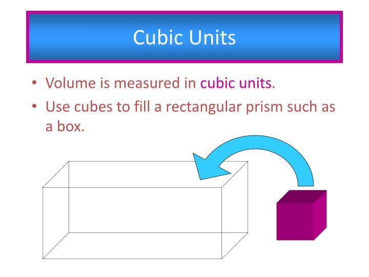 Cubic Units