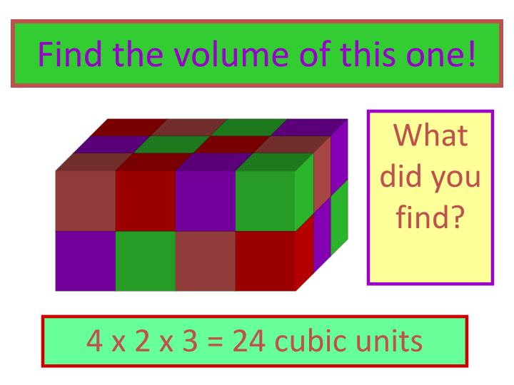 Find the volume of this one!