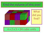 find the volume of this one