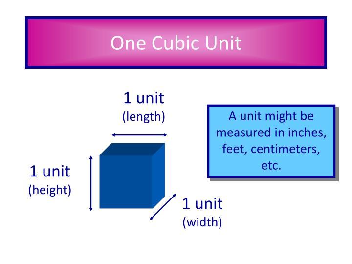 1 unit