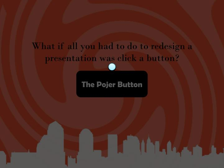 What if all you had to do to redesign a presentation was click a button?