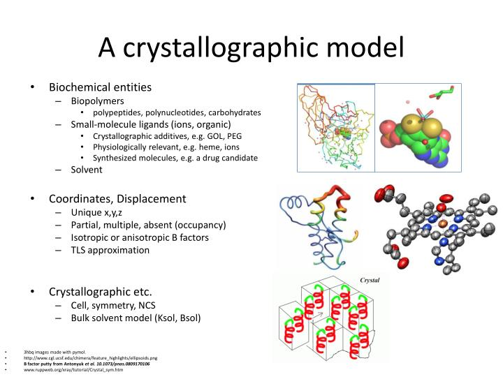 A crystallographic model