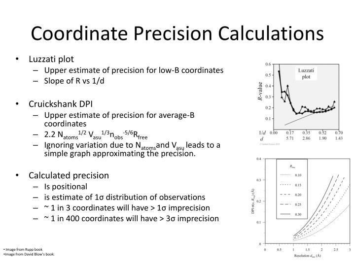 Coordinate Precision Calculations