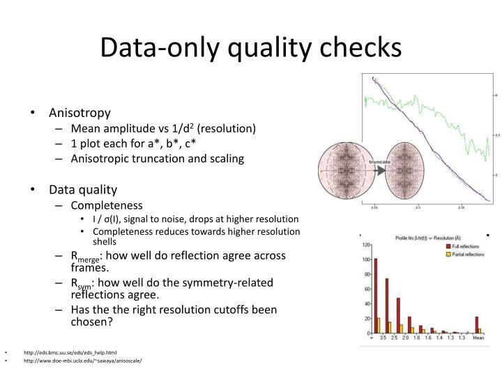 Data-only quality checks