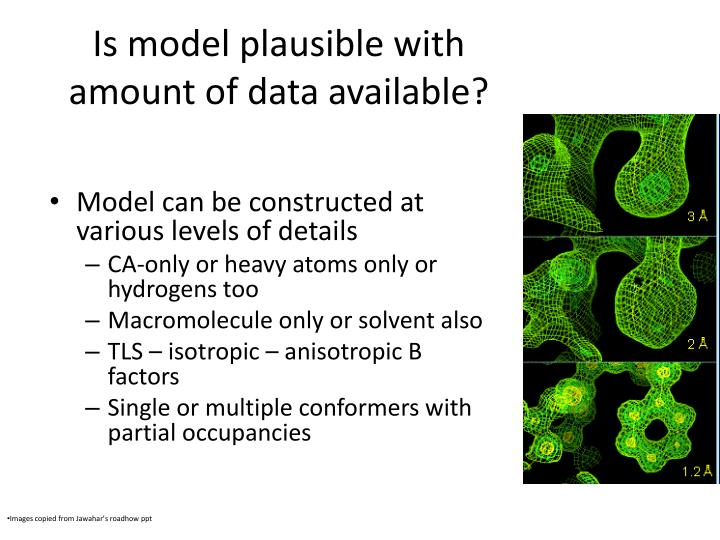Is model plausible with