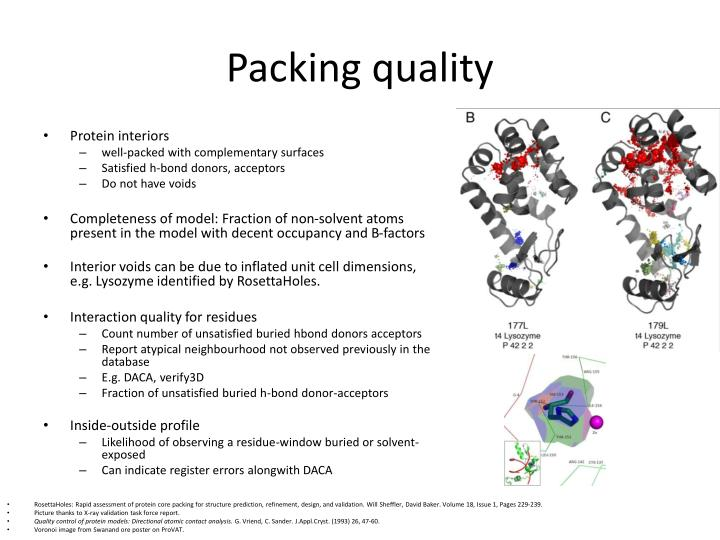 Packing quality