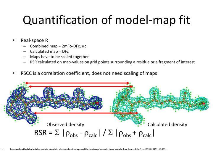 Quantification of model-map fit