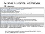 measure description ag hardware