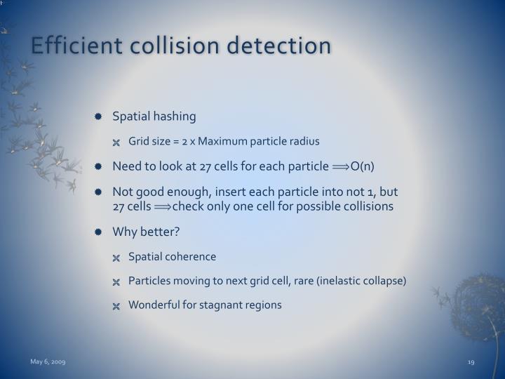 Efficient collision detection