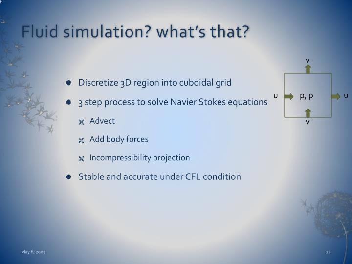 Fluid simulation? what's that?