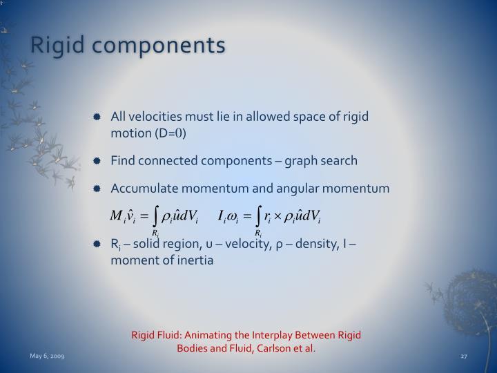 Rigid components