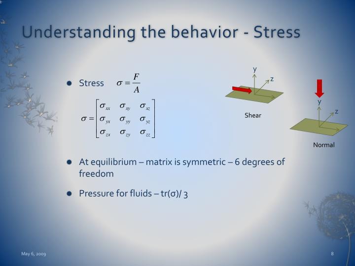 Understanding the behavior - Stress
