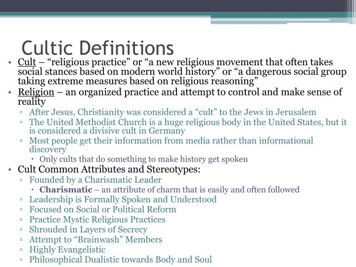 Cultic Definitions