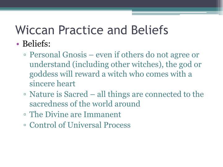 Wiccan Practice and Beliefs