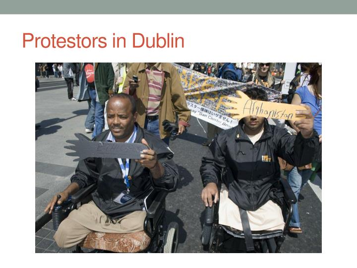 Protestors in Dublin