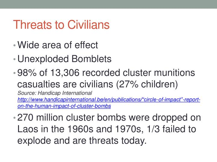 Threats to Civilians