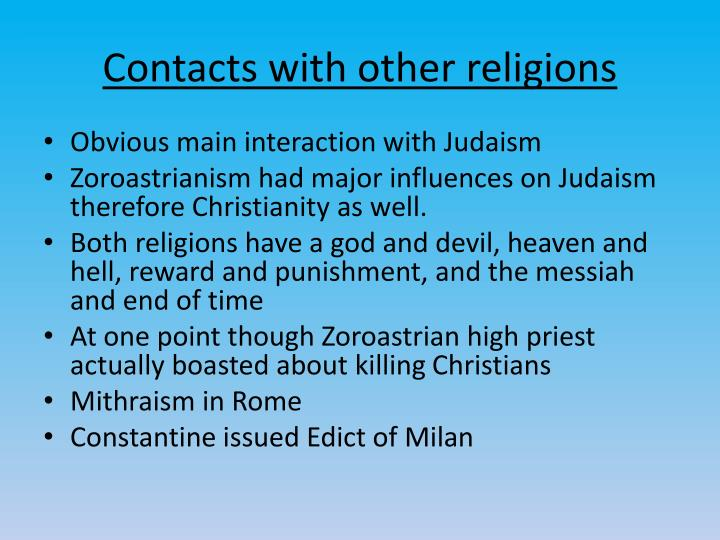 Contacts with other religions