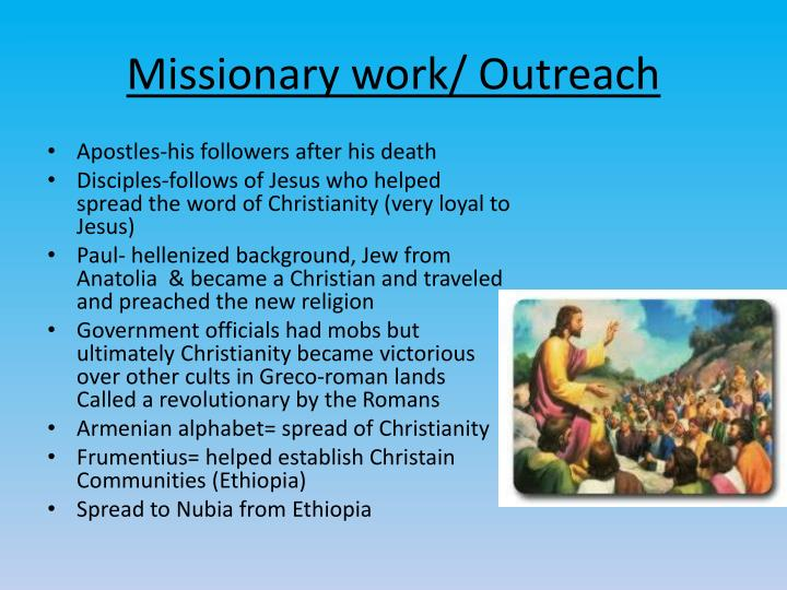 Missionary work/ Outreach