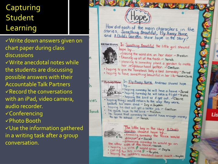 Capturing Student Learning