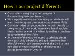 how is our project different