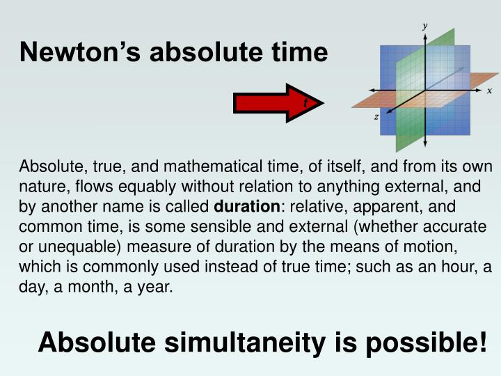 Newton's absolute time