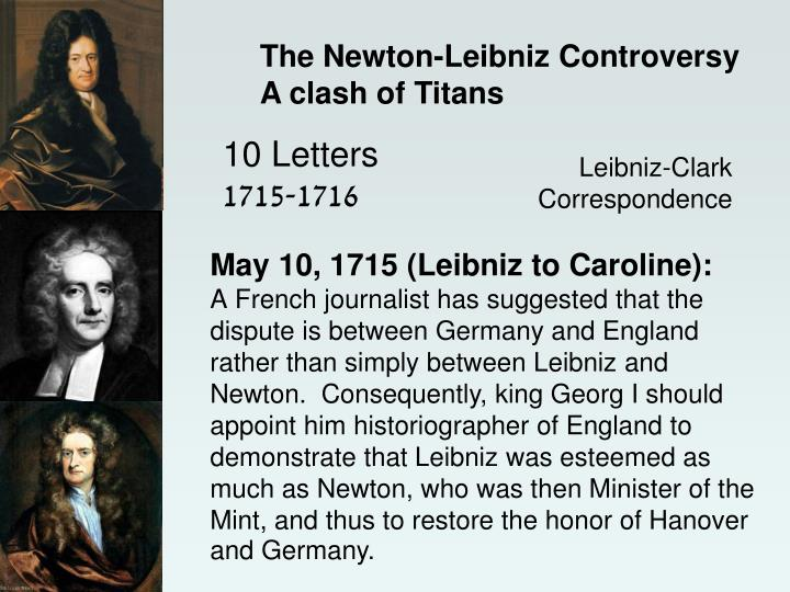 The Newton-Leibniz Controversy