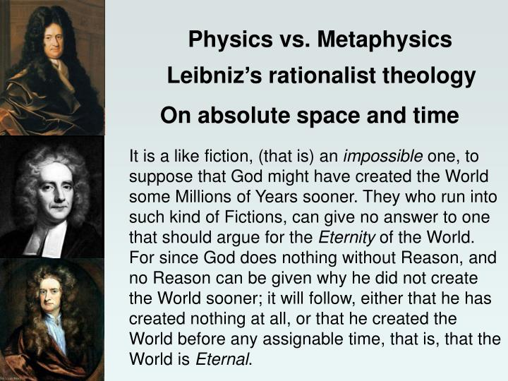Physics vs. Metaphysics
