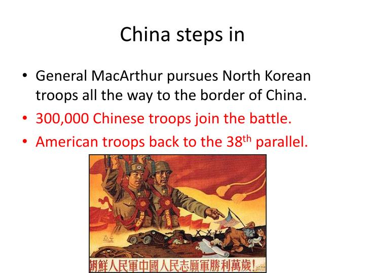 China steps in