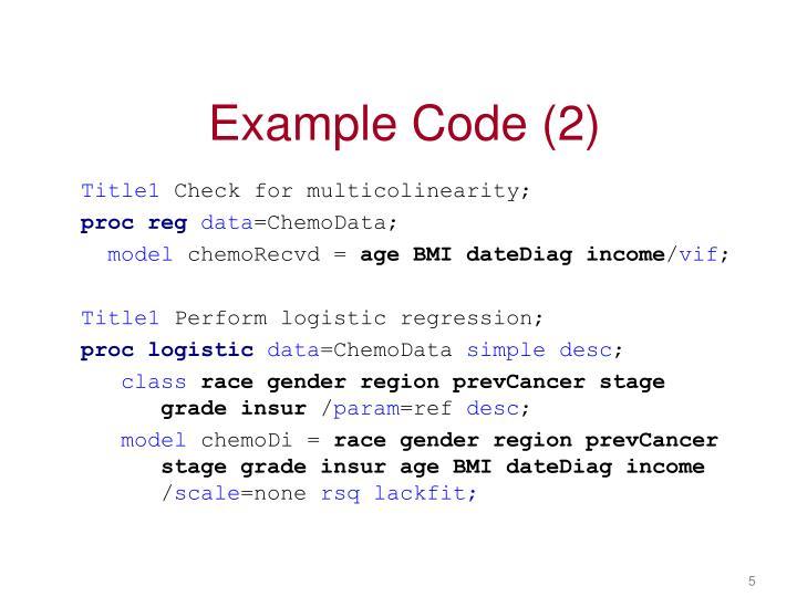 Example Code (2)