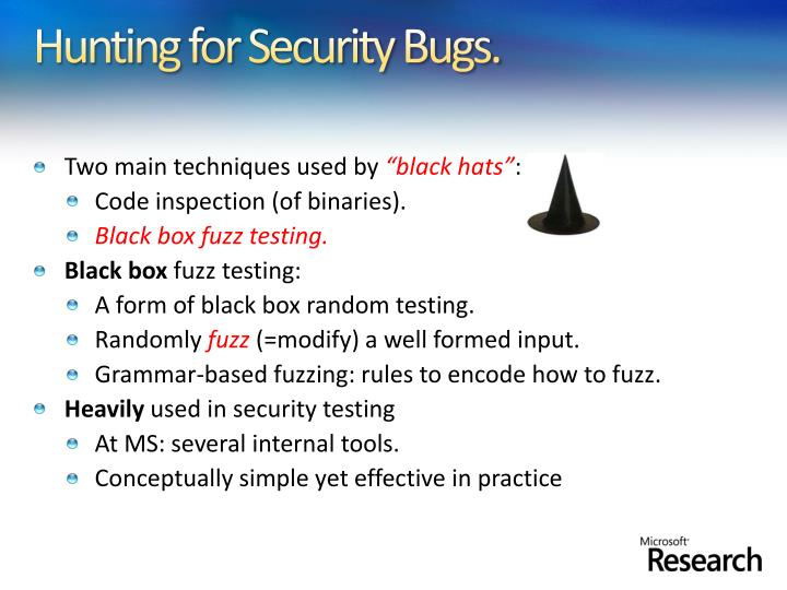 Hunting for Security Bugs.