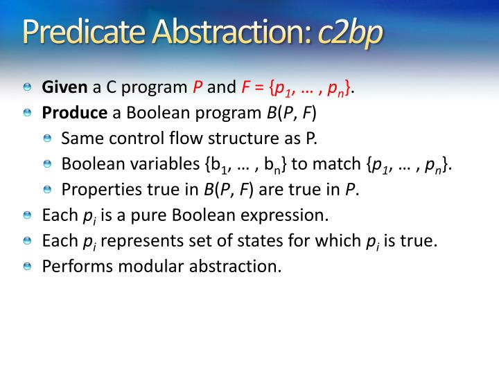 Predicate Abstraction: