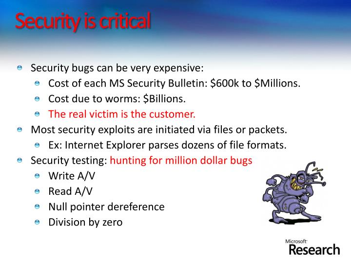Security is critical
