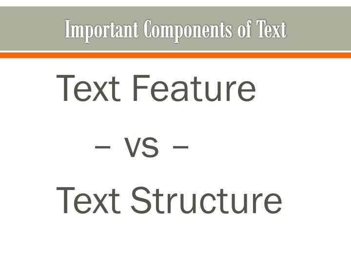 Important Components of Text