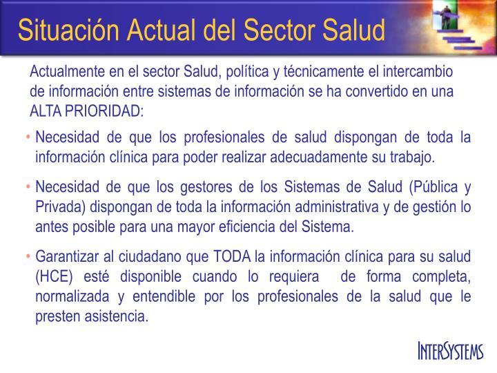 Situación Actual del Sector Salud
