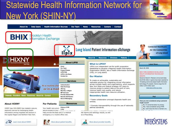 Statewide Health Information Network for New York (SHIN-NY)