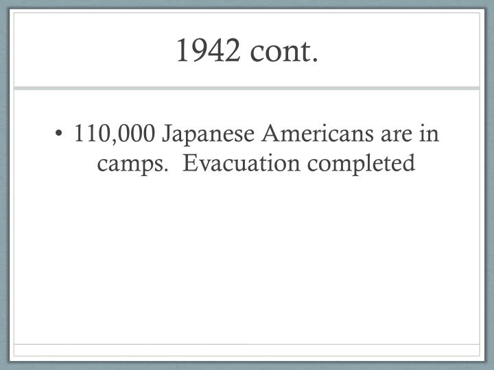 1942 cont.