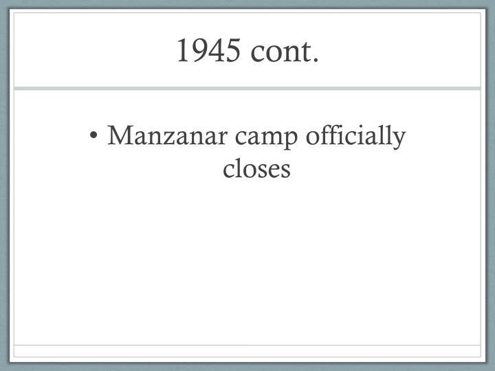 1945 cont.