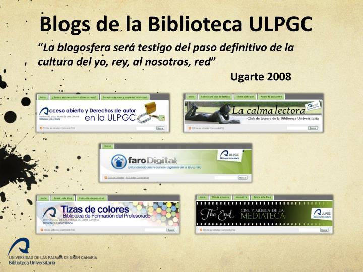 Blogs de la Biblioteca ULPGC