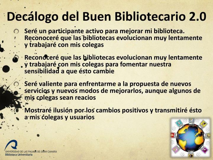 Decálogo del Buen Bibliotecario 2.0