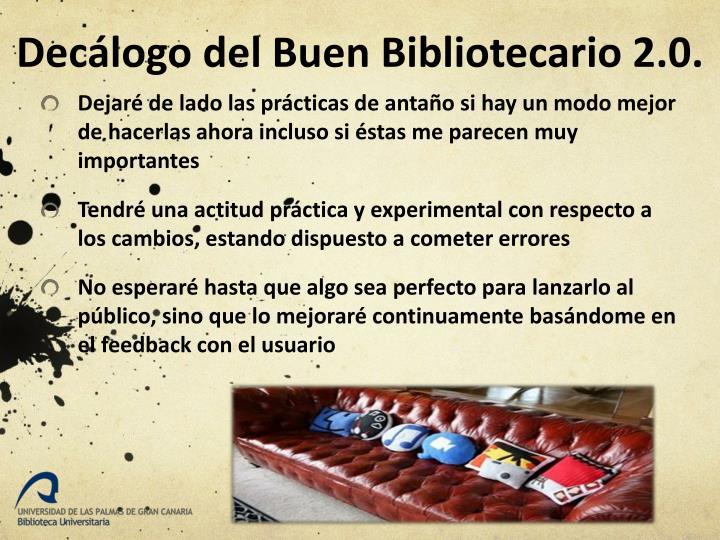 Decálogo del Buen Bibliotecario 2.0.