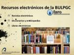 recursos electr nicos de la bulpgc