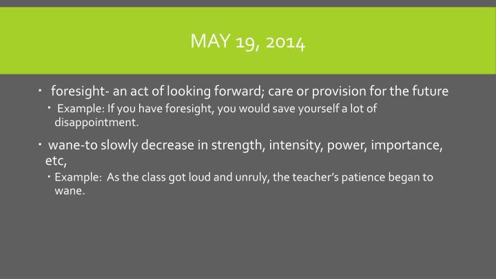 May 19, 2014