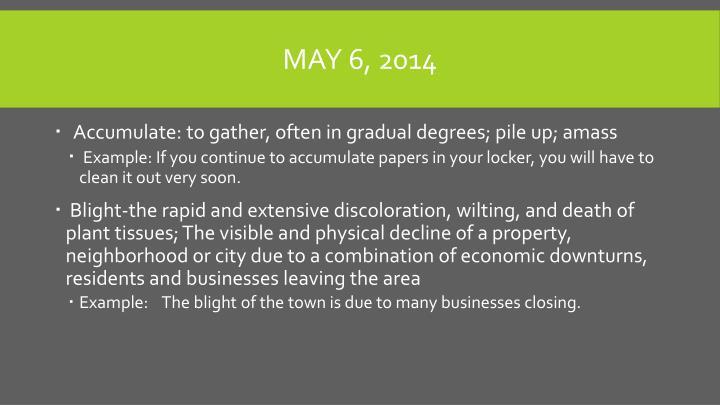 May 6, 2014