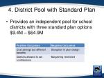4 district pool with standard plan