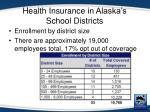health insurance in alaska s school districts