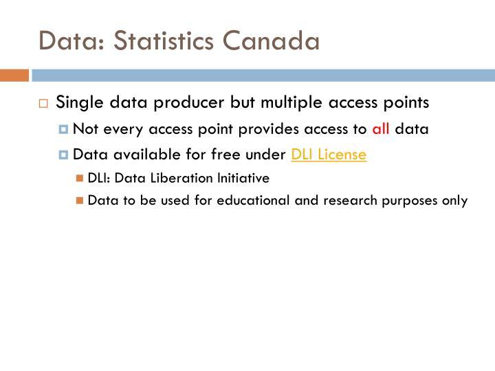 Data: Statistics Canada