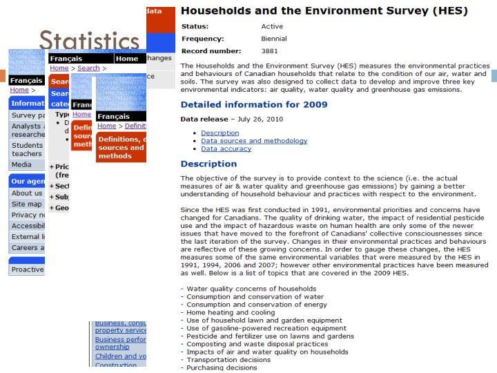 Statistics Canada Catalogue