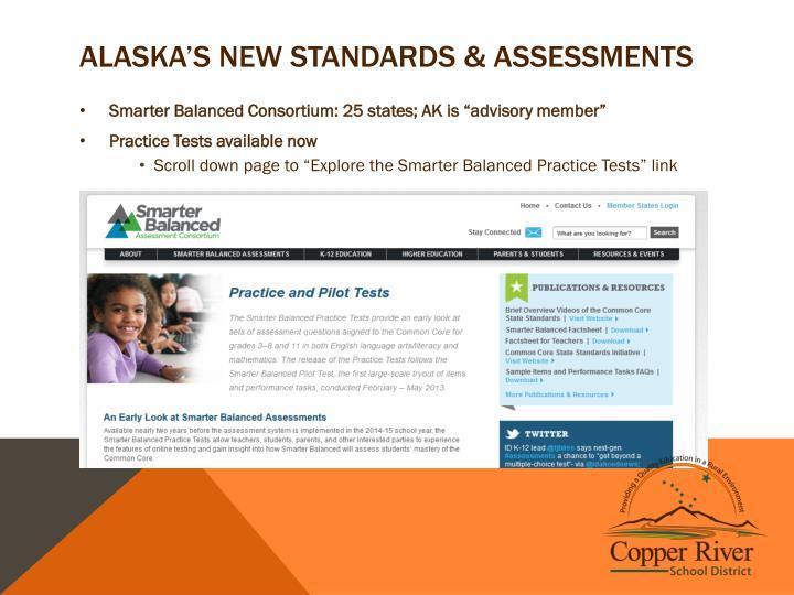 Alaska's New Standards & Assessments